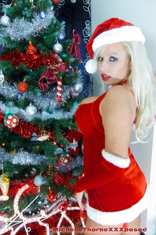 Грудастая блондинка делает минет, одевшись в рождественский костюм секс фото и порно фото